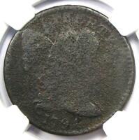 1794 Liberty Cap Large Cent 1C Coin - Certified NGC Fine Details - Rare Coin!