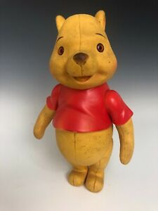 Vintage Winnie the Pooh Toy Vinyl Jointed Arms Large Walt Disney Holland Hall
