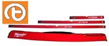 Milwaukee Redstick Slim Spirit Level Kit - 60cm / 120cm / 180cm & Bag 4932464721