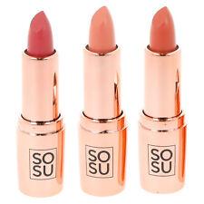 Lipstick Nude Rosy Pink Creamy Lip Cream SOSUbySJ Let Them Talk Vanilla Scent