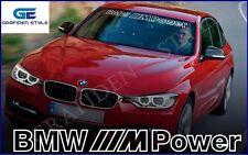 1 stück - BMW /// M Power - Frontscheibe Aufkleber - Sticker - Decal - Car !<>!