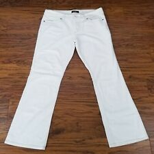 Jordache Womens Jeans Size 14 Flare Bootcut Pants White Stretchy Denim