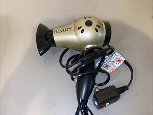 Revlon Fast Dry Travel Hair Dryer 1875W - Black and Gold (RVDR5005)