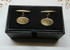 Cufflinks - Henry Griffith & Sons Pair Of Hallmarked 9Ct Gold Oval Shaped