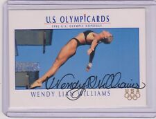 RARE 1992 IMPEL OLYMPIC HOPEFULS WENDY LIAN WILLIAMS AUTOGRAPHED PROTOTYPE CARD