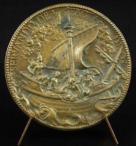 Médaille 1615 Marie de Médicis tel Cybèle à la barre d'1 vaisseau G Dupré XVIIe