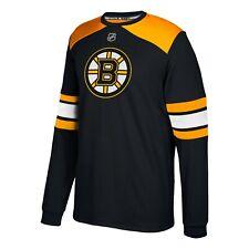 Boston Bruins NHL Adidas Men's Black Authentic Jersey Long Sleeve Shirt