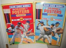 #9886 1990 Collector's Edition Mlb Coloring Posters Big Hitters & Power Pitchers