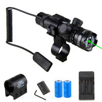 Tactical Red Green Laser Rifle Sight Scope Light Hunting Gun Mount Remote Switch