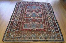 "4'8"" x 7'4"" Antique Kazak Caucasian Hand Knotted Wool Oriental Rug, Hand Washed"