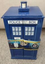 Doctor Who Tardis Jewelry Box 7 Drawers Ring Hanger Mirror BBC