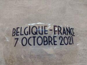 Patch Thermo maillot FFF Équipe de France vs Belgique shirt ligue des nations