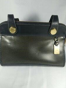 Vintage Leather Dooney and Bourke Handbag USA Back and Gold.