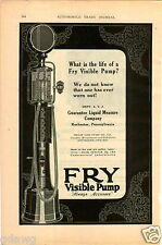 1925 PAPER AD Fry Visible Gas Gasoline Pump Station Philip Gies Kitchener Co