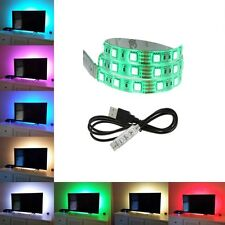 1M 100CM 5V USB 5050 LED STRIP LIGHTS TV BACK LIGHT RGB COLOUR CHANGING