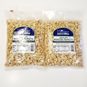 2 Bags of Unsalted Roasted Shelled  Peanuts 1lb each bag Expire date 1/13/2022