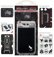 Gecko Adhesive Phone Wallet & RFID Blocking Sleeve, a Stick-On Stretchy Lycra...