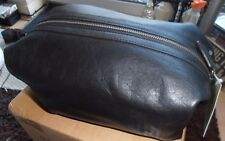 BNWT Ralph Lauren 100% Leather Toiletry Bag Black Large Ideal Gift
