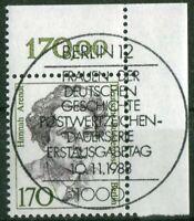 Berlin 826 Eckrand gestempelt Vollstempel ESST Berlin 12 Ecke 2 Frauen 170 Pf.