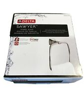 Delta Sawyer Satin Nickel Towel Ring Die Cast Zinc