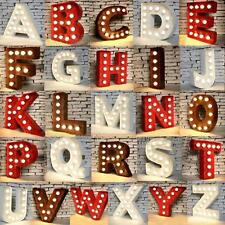 9'' & 12'' LED Marquee Alphabet Letter Lights Vintage Circus Style Light Up Sign