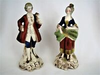 Goebel 1930's Rococo French Man and Woman Courting FR 624 A FR 624 B  - 2 pc set