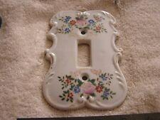 Vintage Porcelain Light Switch Cover Flowers Floral