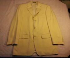 Oscar de la Renta 40L men's 3 button wool butter Jacket sport coat Blazer
