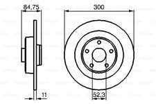 2x Bremsscheibe für Bremsanlage Hinterachse BOSCH 0 986 479 083