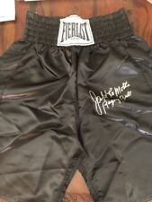 Jake LaMotta Signed Black Everlast Boxing Trunks The Raging Bull SSG COA