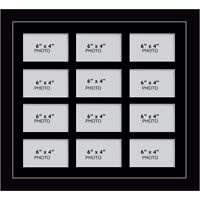 """Large multi picture photo aperture frame 6"""" x 4"""" inches size with 12 openings"""