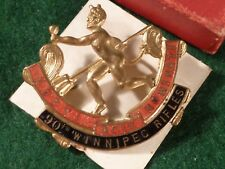 Replica Brass and Enamel Cap Badge 30th Winnipeg Rifles