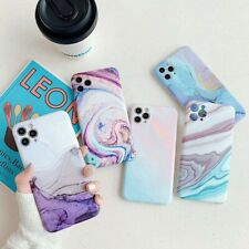 For iPhone 11 Pro Max/XR/XS/8 Plus TPU Marble Pattern Shockproof Back Case Cover