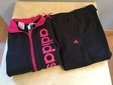 girls gymnastics adidas tracksuit age 9-10 ideal back to school Free Postage