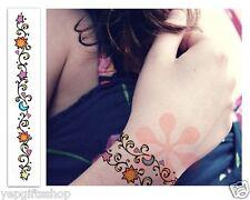 Jewelry Bracelet Tattoo Temporary Tattoos  - Color Star & Moon Bracelet Tattoos