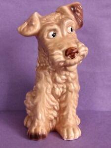 "Vintage Large 8""Sylvac Terrier Dog Figurine Model 1379 Beige Brown UK sell only"
