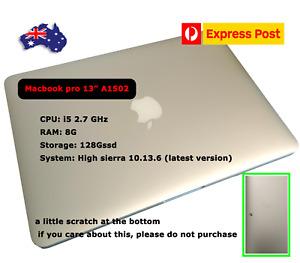 Apple MacBook pro 13  Laptop, A1502, i5  DDR3 8G 128GSSD, 2013, sliver