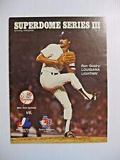 1982 MLB NY YANKEES v EXPOS & RANGERS BASEBALL PROGRAM @ NEW ORLEANS  RON GUIDRY