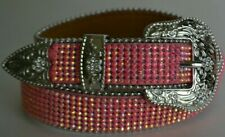 Angel Ranch A1169 Kids Bling Rhinestone Leather Western Fashion Belt Pink