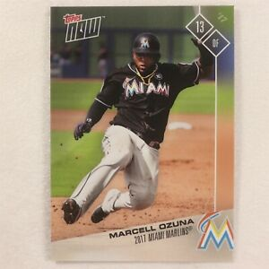 2017 Topps Now Card #OD-244: Miami Marlins Marcell Ozuna