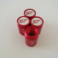 ST METAL SPORTS Valve Dust caps all Cars 7 COLOURS RED KUGA FOCUS FIESTA ST LINE