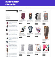 MATERNITY CLOTHING WEBSITE - ONE YEARS HOSTING - NEW DOMAIN - EASY TO RUN