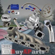 T3/T4 Turbo+Manifold+Silver Wastegate+Blue Boost Controller Kit for BMW E36 E46