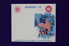 Manphil 1975 Apollo Soyuz Lexington bicentennial stamp expo Souvenir card page