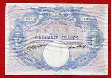 (Ref: O.121) 50 FRANCS BLEU ET ROSE 18/10/1926  (TTB+)