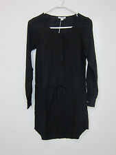 James Perse Long Sleeve Tunic Dress - Womens 0 - Black - NWT