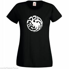 GAME OF THRONES TARG DRAGON LADY FIT BLACK T-SHIRT XL cotone WOMANS TOP XL