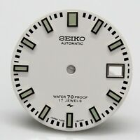 White Dial for Seiko diver 7005 8052 8050 Green Poor Man's 62MAS Proof 17 Jewel