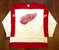 Brett Hull #17 Vintage Detroit Red Wings Off The Bench Hockey Jersey Size XL NHL