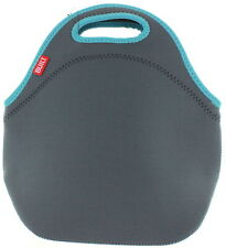 Built NY Gourmet Getaway Neoprene Lunch Tote Bag - Reusable Insulated, Gray Blue